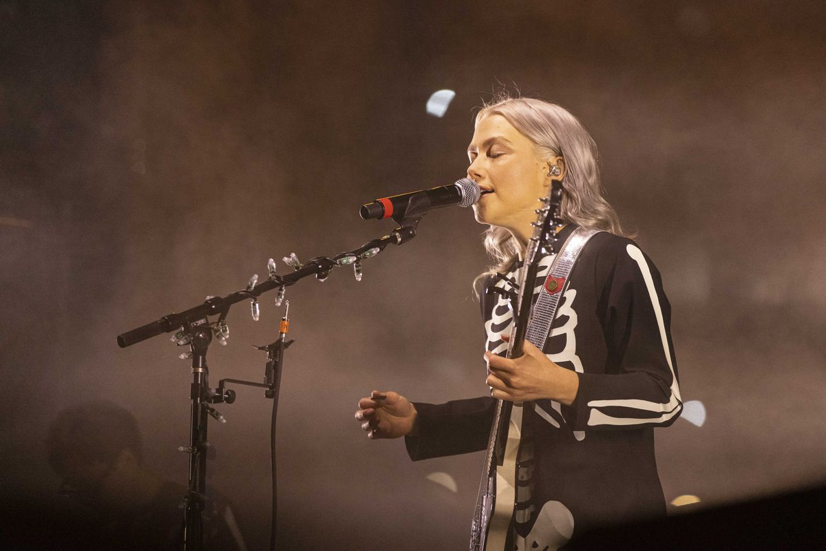 Phoebe Bridgers performs on Day 1 of the Pitchfork Music Festival.