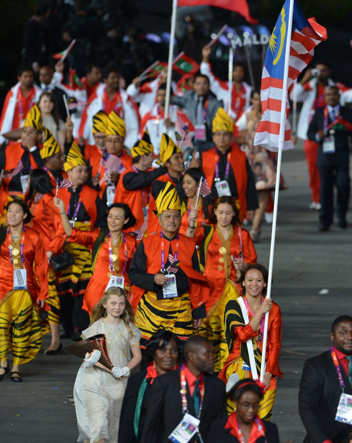 Malaysia's flagbearer Pandelela Rinong P
