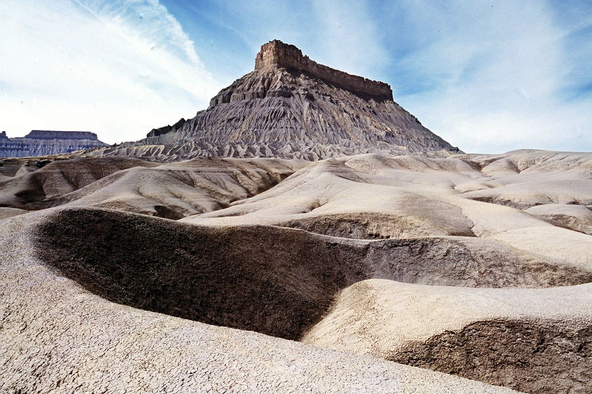 Factory Butte, near Hanksville, is pictured in the 1990s.