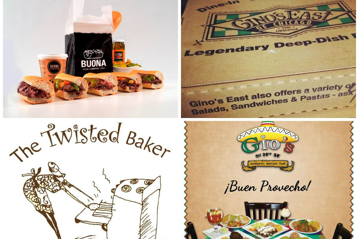 Buona Beef, Gino's East, The Twisted Baker, Gio's Authentic Mexican