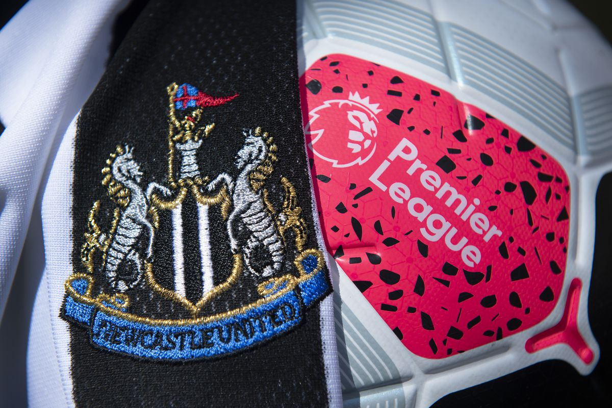 Newcastle United Club Crest with the Premier League Match Ball