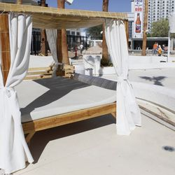One of the partially renovated cabanas at Bagatelle.