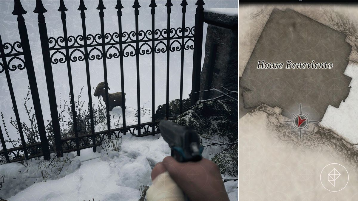 Resident Evil Village Goat of Warding House Beneviento porch map location