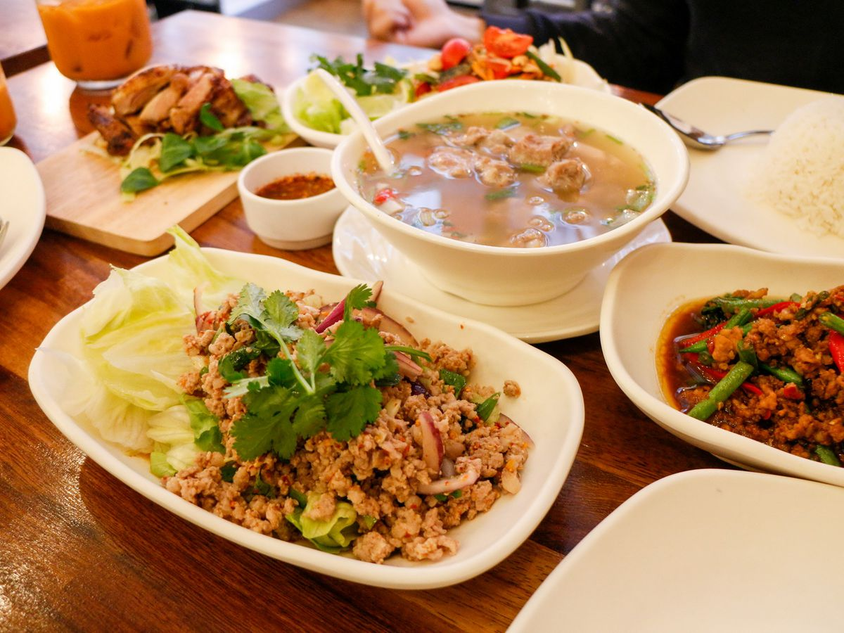 Boat noodles and larb at The Great Thai in Fitzrovia, one of the best value restaurants in central London