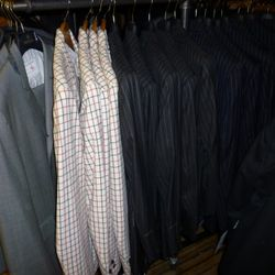 A close-up look at the suits