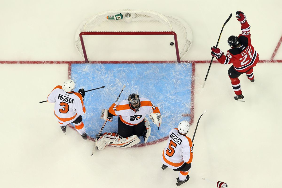 The goal: More of these by the Devils than by the other team.  Pictured: An example from the game on February 15.