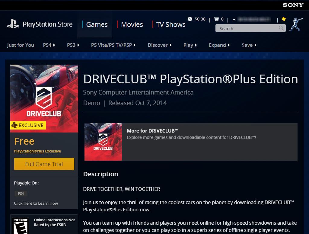 DriveClub PlayStation Plus Edition - PlayStation Store screenshot 1024