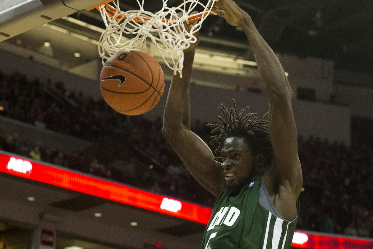 Maurice Ndour plays outstanding ball in an Ohio win over UNC-Wilmington.