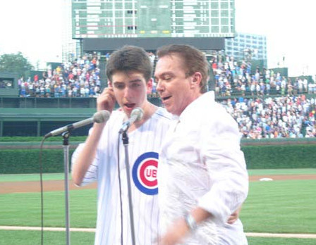 David Cassidy and his son Beau at Wrigley Field in 2006.   DAVIDCASSIDY.COM