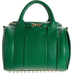 Green is going to be THE color du saison for Spring - be ahead of the curve and pair it with a black winter coat now! Alexander Wang 'Rockie Duffel', $795, barneys.com