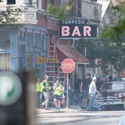 """A part of the set of Jordan Peele's new HBO series """"Lovecraft Country"""" in the Pilsen neighborhood on July 23, 2018. 