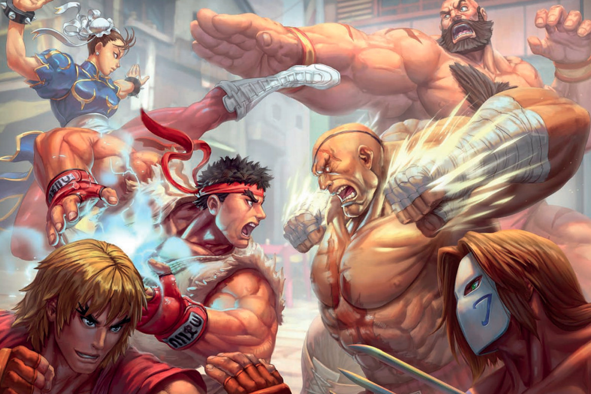 Cover image for the beta version of the Street Fighter: The Miniatures Game instruction manual.