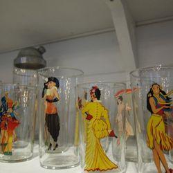 More decorative glassware behind the register
