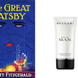 """For Jay Gatsby: <a href=""""http://www.birchbox.com/men/body/bvlgari-man-shampoo-shower-gel"""">Bulgari MAN shampoo and shower gel</a> , to mask the lingering scent of booze from his history as a bootlegger and give him a metaphorical fresh start."""