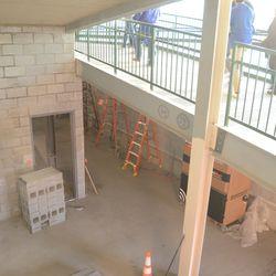 6:30 p.m. Construction area near the plaza entrance ramps -