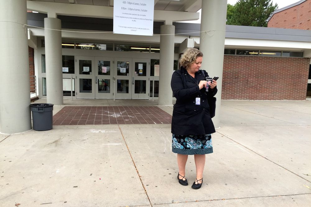 A Jeffco Public Schools employee arrived at Jefferson High School Monday morning to learn classes had been canceled. Too many teachers requested substitutes Monday at Jefferson and Golden high and school was canceled.