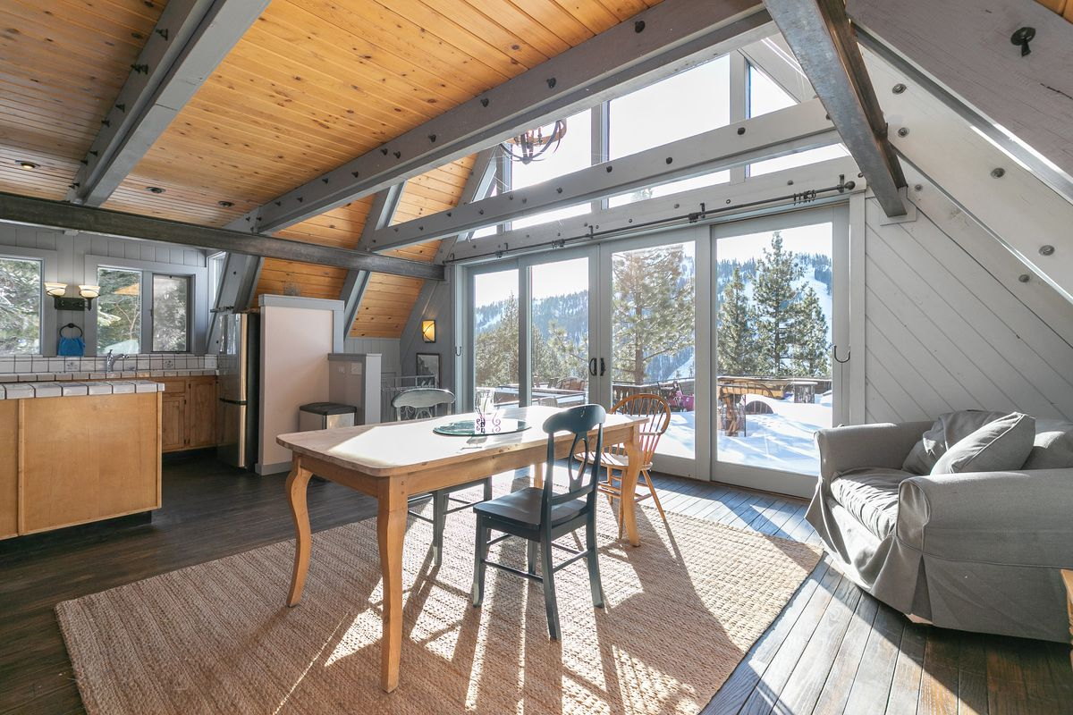 Ski Chalet Interior Design european-style ski chalet in squaw valley asks $2.1m - curbed