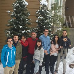 Noel Lopez (second from the left) is photographed with his family.