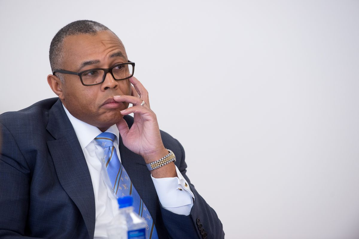 Ald. Howard Brookins, Jr. talks to the Sun-Times editorial board about running for reelection in Chicago's 21st Ward on Jan. 27, 2015. | Peter Holderness / Sun-Times