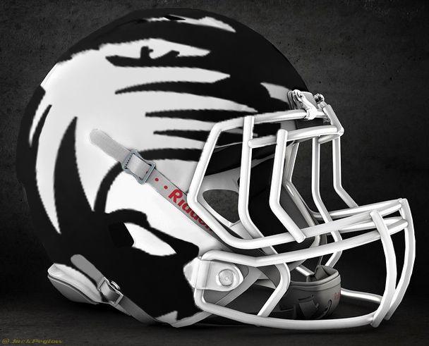 Pixelated helmet