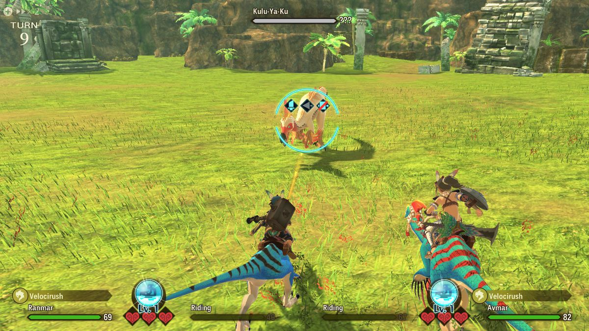 A combat screen from Monster Hunter Stories 2: Wings of Ruin