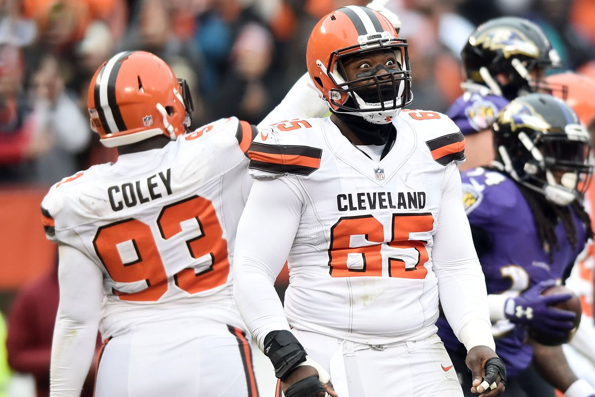 competitive price f89fe b9d22 Browns fans split on whether Caleb Brantley or Trevon Coley ...