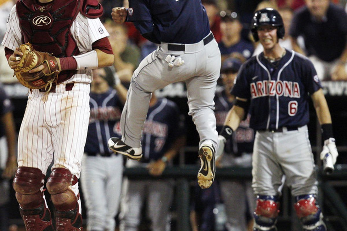 Robert Refsnyder crossed the plate with the winning run, and a half-inning later the 2011-12 college sports season came to an end. (Bruce Thorson-US PRESSWIRE)