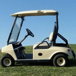 """Golf Cart: For the avid golfers, a <a href=""""http://www.golfcar4rent.com/"""">golf cart</a> seems most appropriate. To spruce up the classic two-seater, ask your bridal party to decorate the cart with fresh flowers and a hand-written sign."""