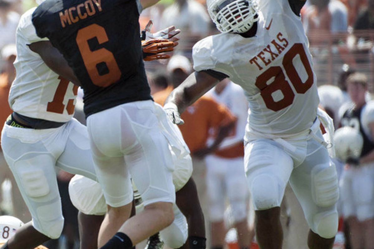 reputable site 517ad dcd2e Texas players Alex Okafor, Kenny Vaccaro arrested waiting ...