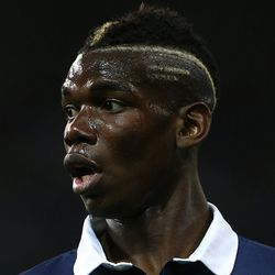 Extra points for actually dying the fade are in order for France's <b>Paul Pogba</b>.