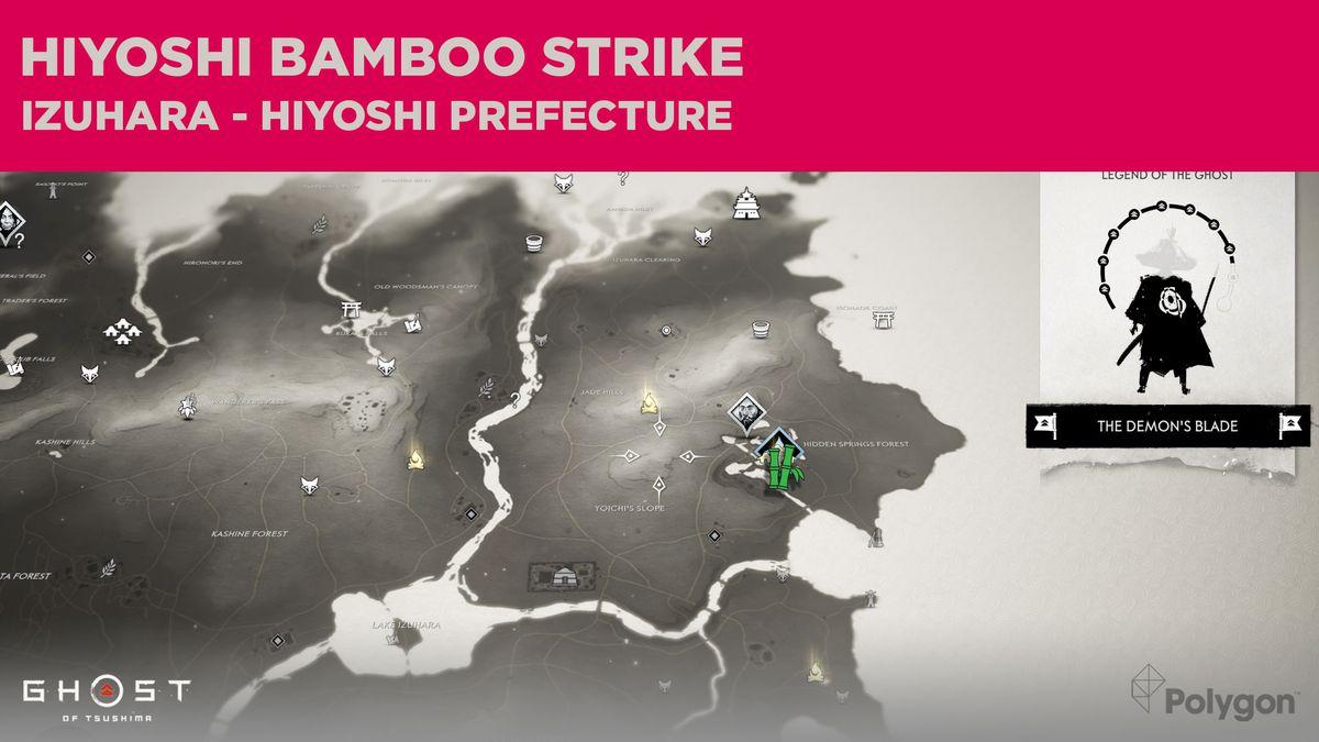 The Bamboo Strike location in Hiyoshi in Ghost of Tsushima