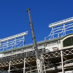 View of fences on future upper deck patio area