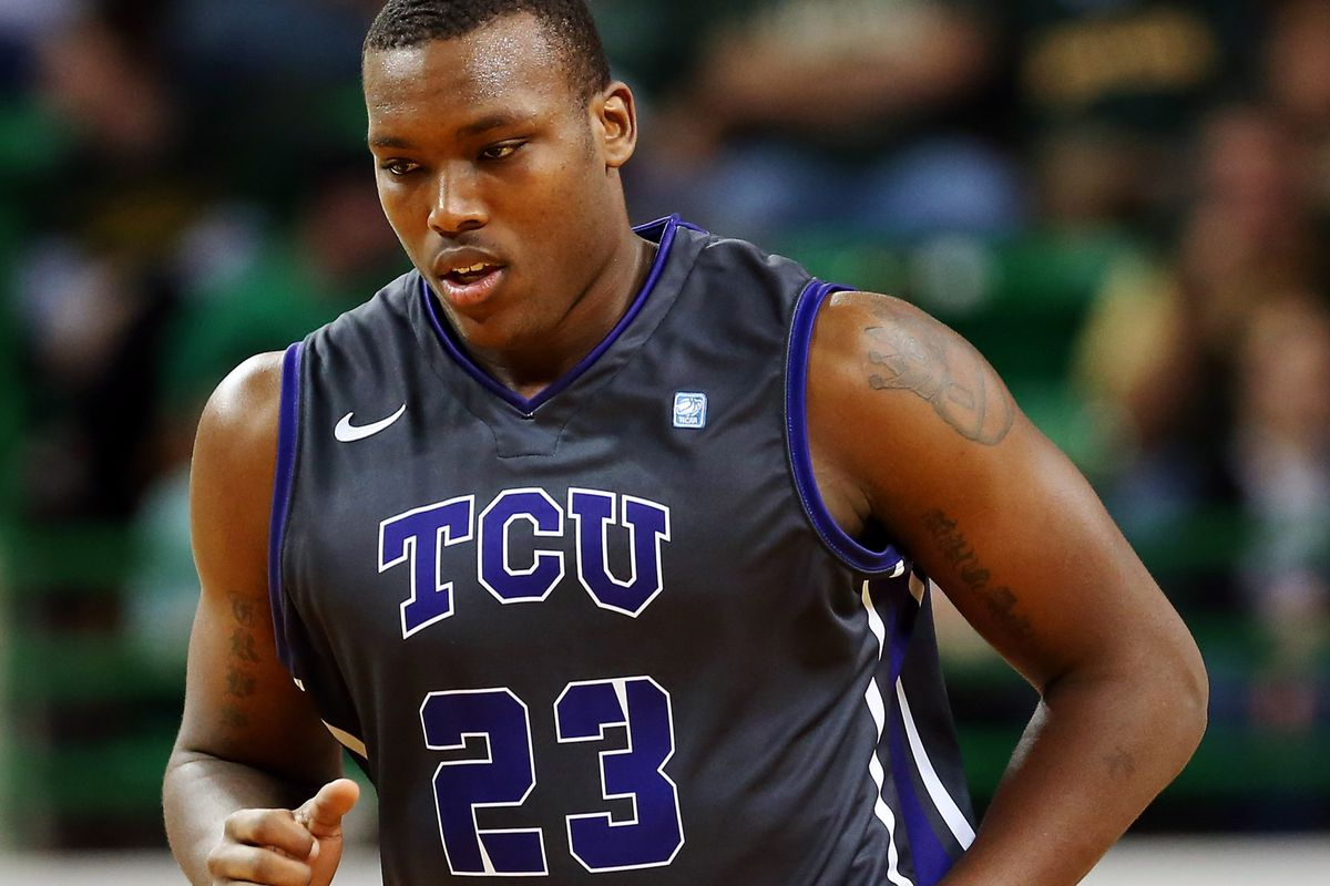 Devonta Abron would have provided a major low post threat for TCU, will now be sidelined for the season with a Achilles tear.