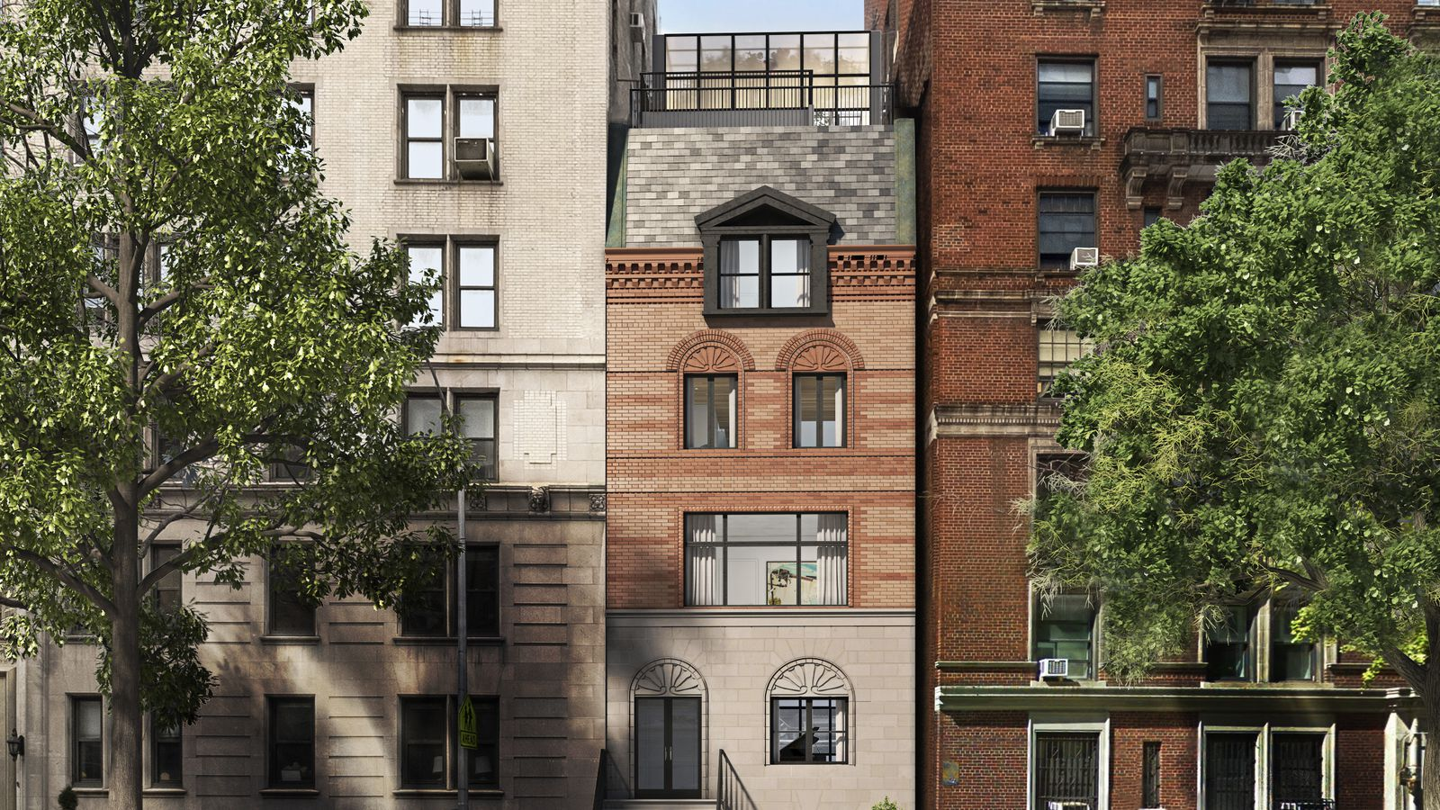 Front Elevation Makeover : On the upper west side a rare mckim mead white fixer