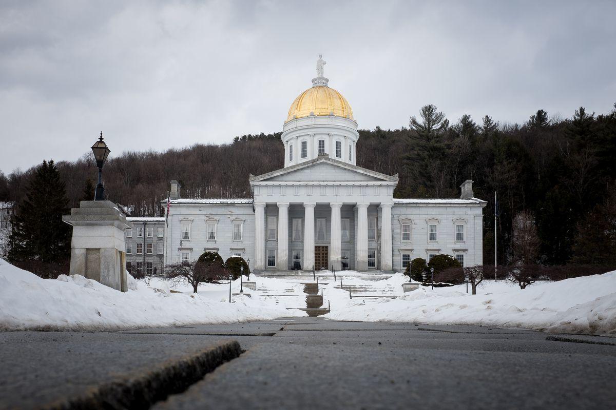 The Vermont Statehouse in Montpelier, Vermont.