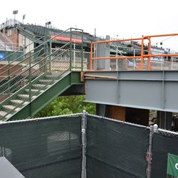 11:31 a.m. The stairs leading to the right-field porch -