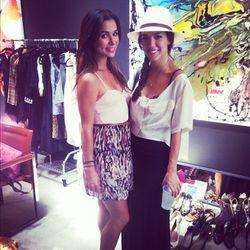 Actresses Josie Loren and Tamara Camille
