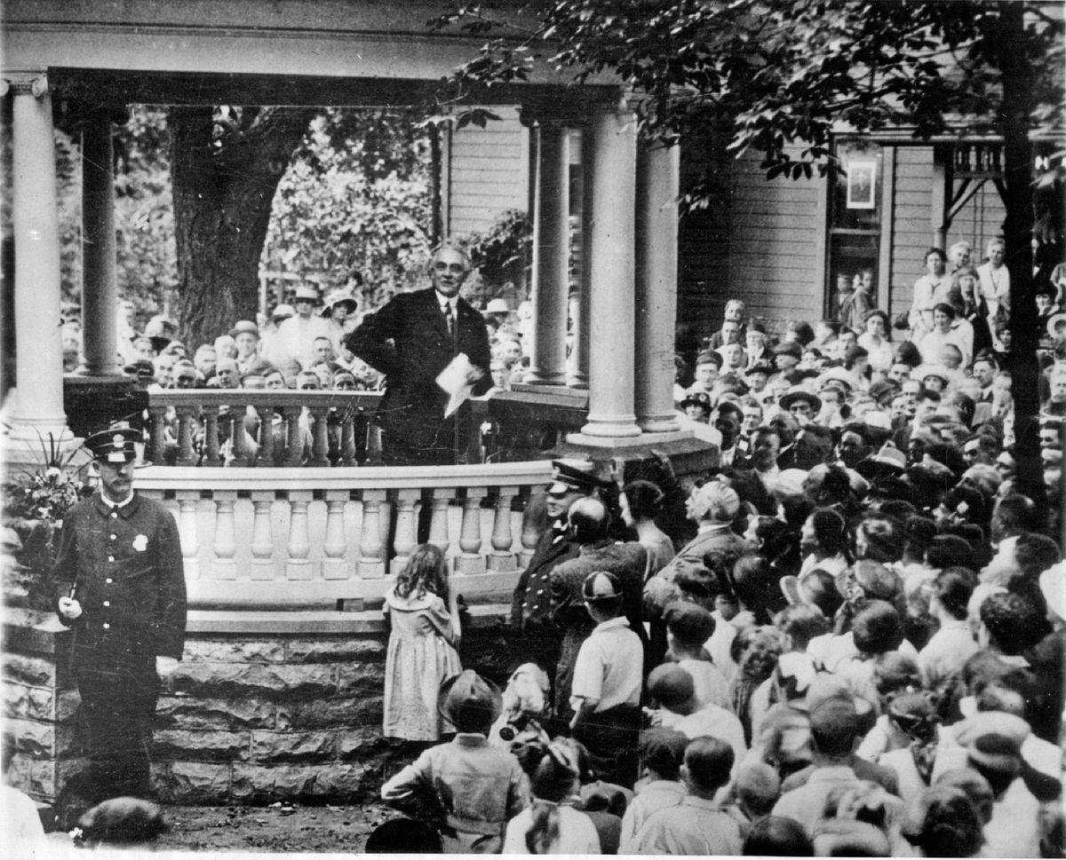 Presidential candidate Warren G. Harding.