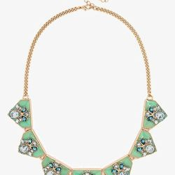 Wide Tab with Embellishment Collar, $46