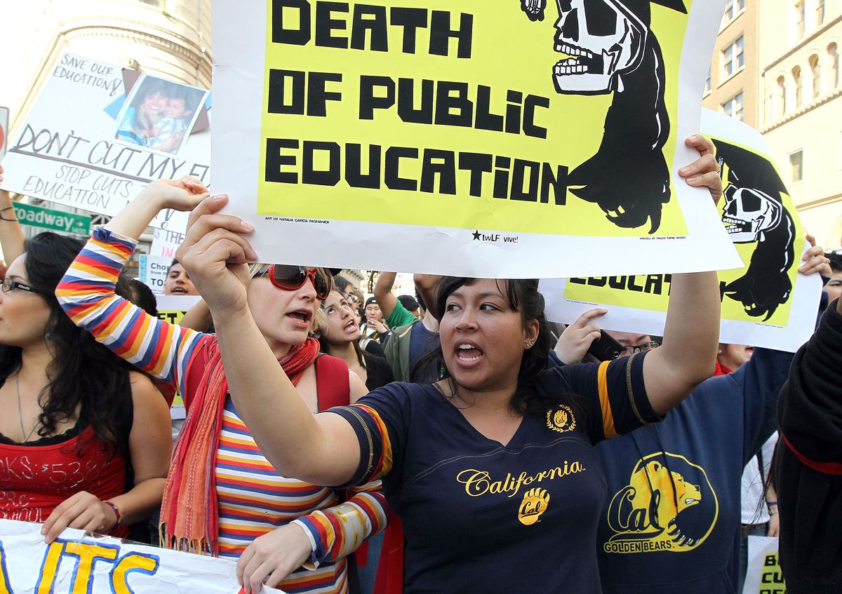 California Campuses Hold Walkouts And Rallies To Protest Education Cuts