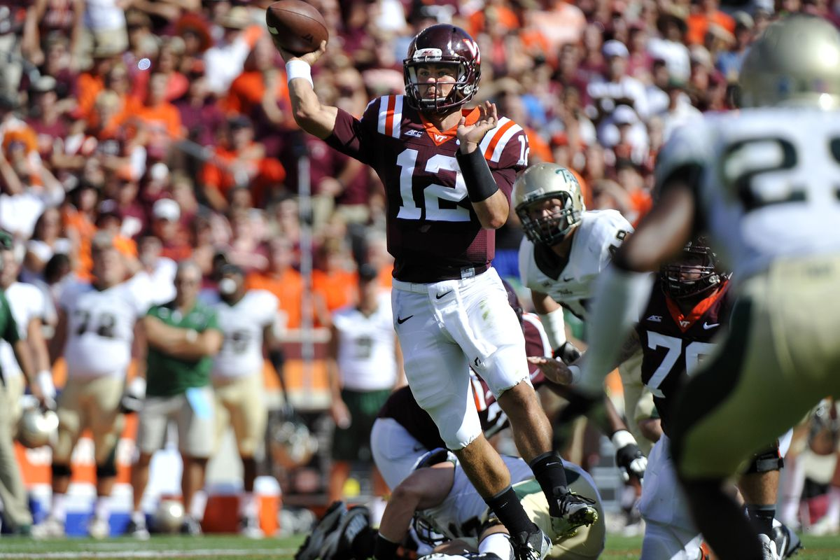 Michael Brewer threw for 251 yards, 2 TDs and 1 INT vs. William & Mary