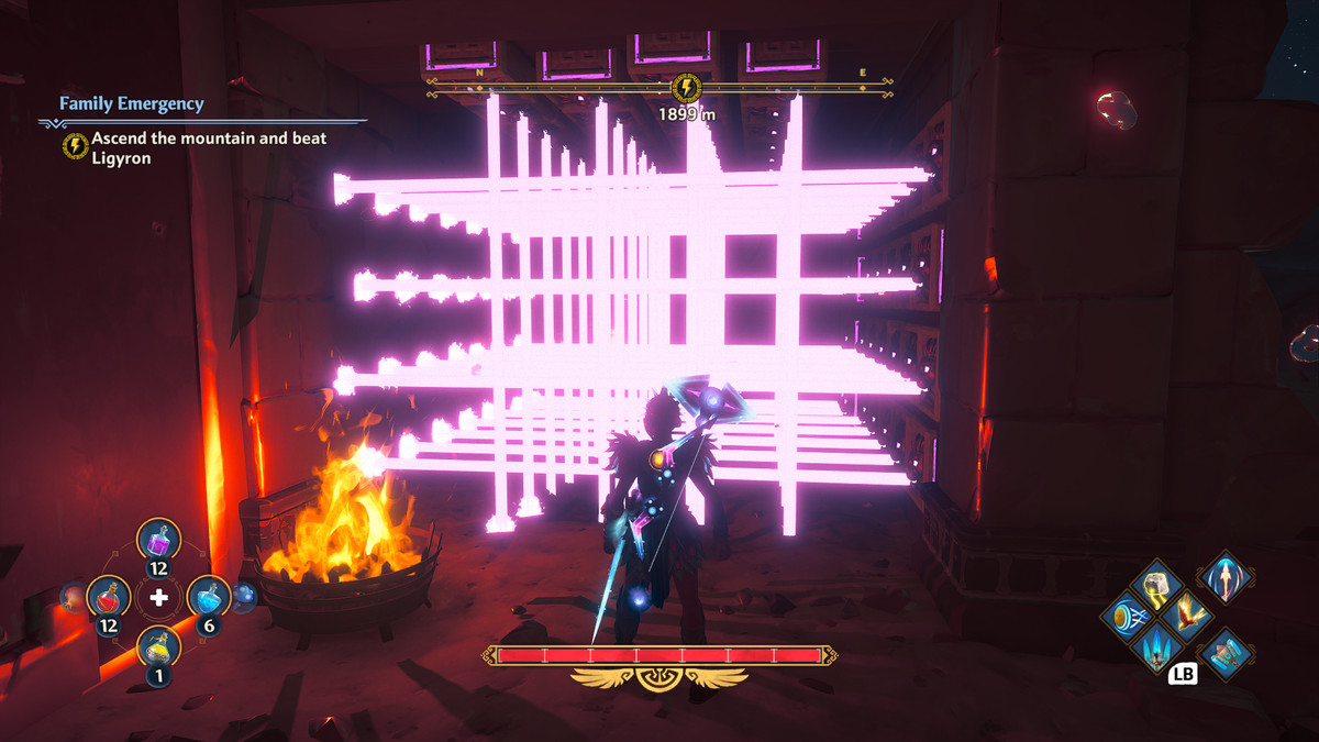A puzzle solution in the Mastering Athena's Dash Vault of Tartaros in Immortals Fenyx Rising