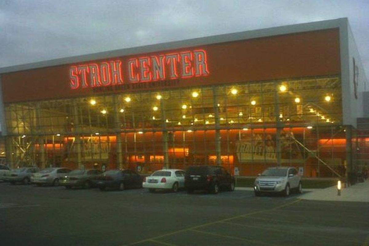 BG's new basketball home is just a slick little building. (Cell phone pic, if you can't tell)