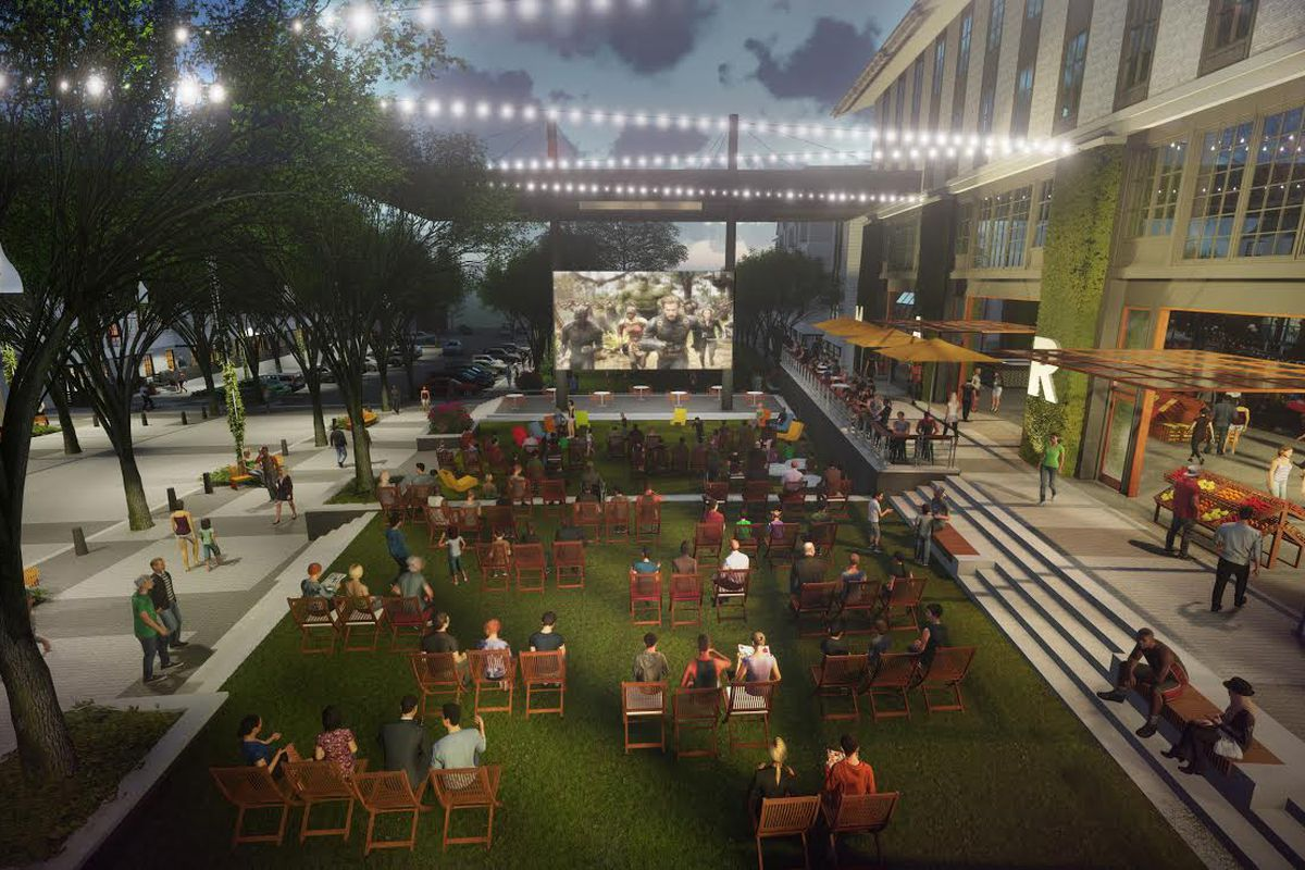 A look at Pinewood Forest's upcoming plaza.