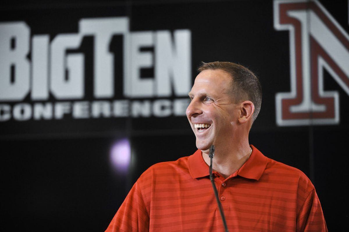 Bo Pelini loves it, but let's just stop smiling for one second. (Photo by Eric Francis/Getty Images)