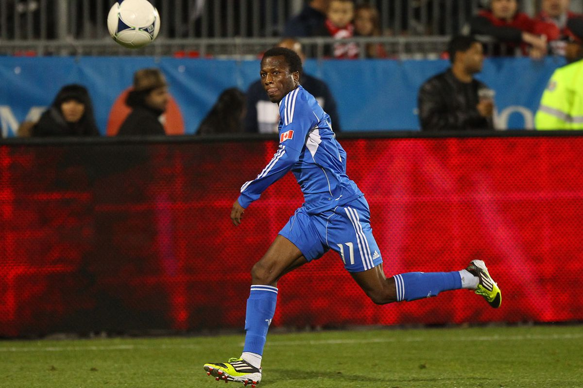Sanna Nyassi is one of several former Sounders on the Montreal Impact. (Photo by Tom Szczerbowski/Getty Images)