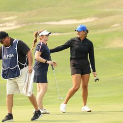 BYU Women's Golf Kerstin Fotu won the tournament at Thanksgiving Point GC and Gabrielle Gibson, a professional from Temecula, California is the low professional and will take home the $1,500 first place check.