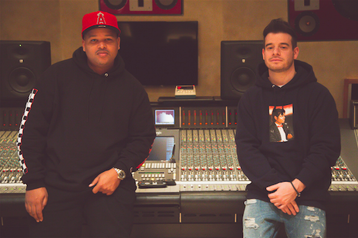 """Jimmy Giannos and Dominic """"DJ"""" Jordan of The Audibles"""