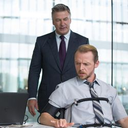 """Alec Baldwin, left, plays Hunley and Simon Pegg plays Benji in  """"Mission: Impossible – Rogue Nation."""""""