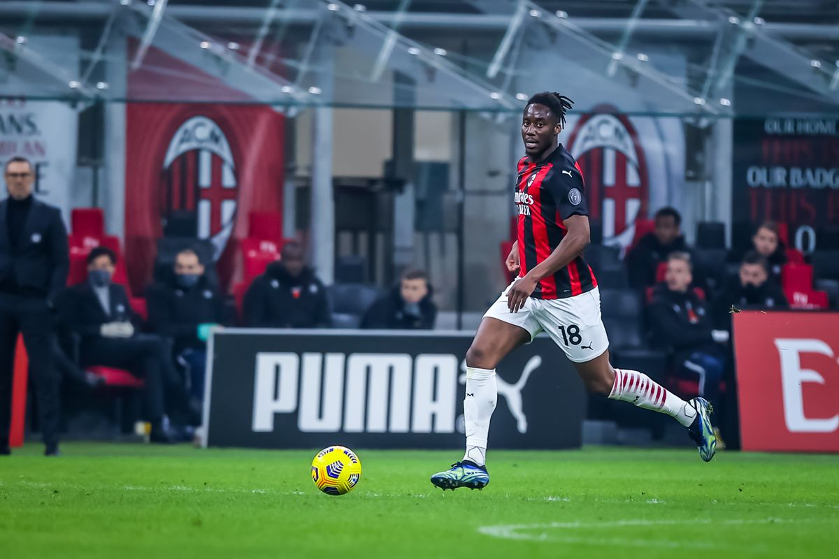 Soualiho Meite of AC Milan seen in action during the Serie A...